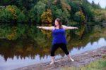 Warrior Pose by Lake